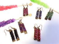 Our Rock Candy Dangle Earrings come in a variety of delicious colors.