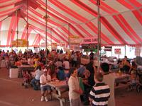 Inside Red & White Festival Tent