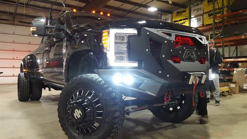 6 Inch Lift Kit On Ford Dually w/custom wheel and tire package