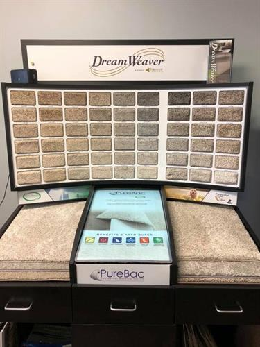 Dream Weaver Carpet Display in our Tinley Park Showroom on 171st St at LaGrange