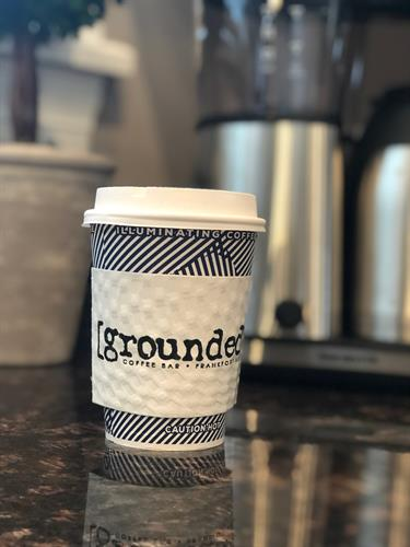 The hot to-go cups arrived - soon you can get yours at Grounded Coffee Bar