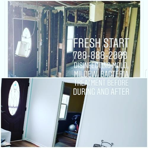 Disinfect & kill mold and bacteria before during and after remodeling
