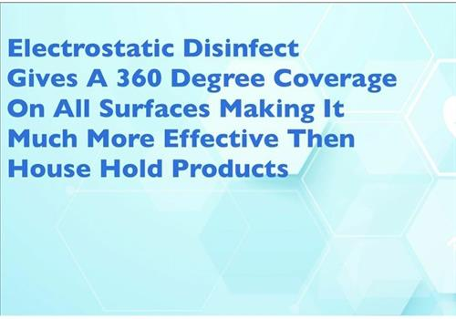 Electrostatic Spraying IS the difference in falling down or clinging everywhere