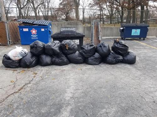 A local property made beautiful after almost 1,000 pounds of litter removed