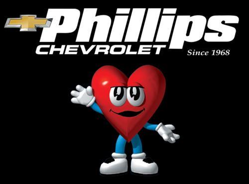Phillips Chevrolet logo and mascot