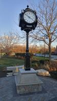 Frankfort Clock at White Street and Old Plank Trail donated by Preservation Foundation