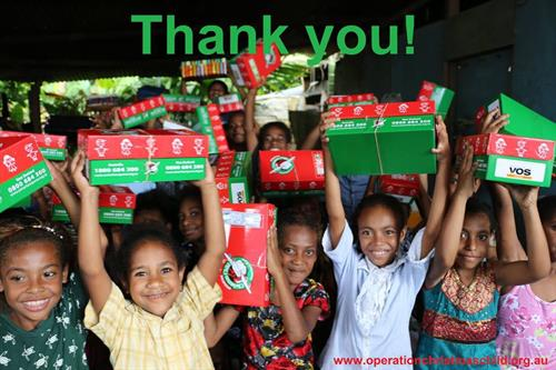 We are a Drop Off Center for Operation Christmas Child.