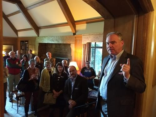 Tim Kaine breakfasts with the Culpeper Dems