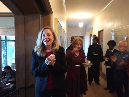 Abigail Spanberger breakfasts with the Culpeper Dems