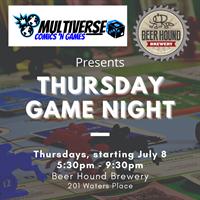 MULTIVERSE COMICS 'N GAMES BRINGS GAME NIGHT TO BEER HOUND BREWERY
