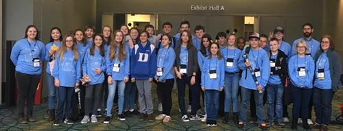 Middle and upper school students travel to state and national Latin Conventions to compete in subject tests and art competitions. Some of our students also serve as Classical League officers.