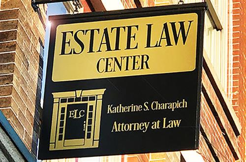 Estate Law Center Sign on East Davis Street in Downtown Culpeper near the Depot