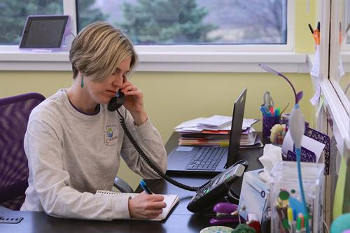 Marissa, Front Office Coordinator extraordinaire at work!