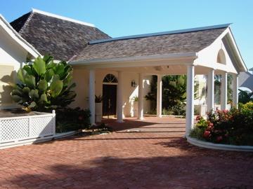 Windward luxury tourist villa entrance, Jamaica West Indies