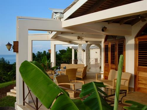 Sweetness luxury villa veranda Jamaica West Indies
