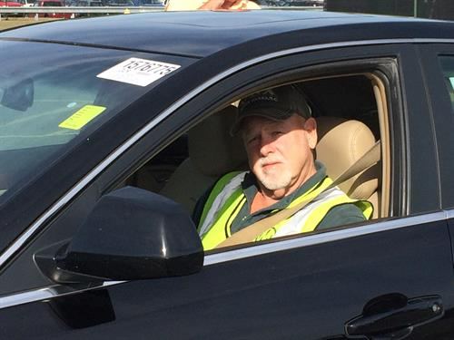 Long-time worker Randy at the auto auction
