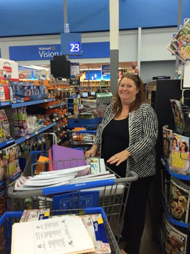 School supply shopping for local schools and families at back to school