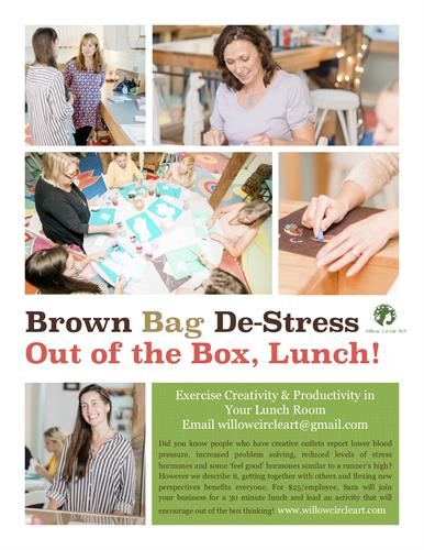 Brow Bag De Stress's are offered at Business locations as a treat for Staff.