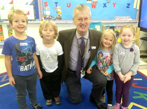Preschool visits with Mr. Poole