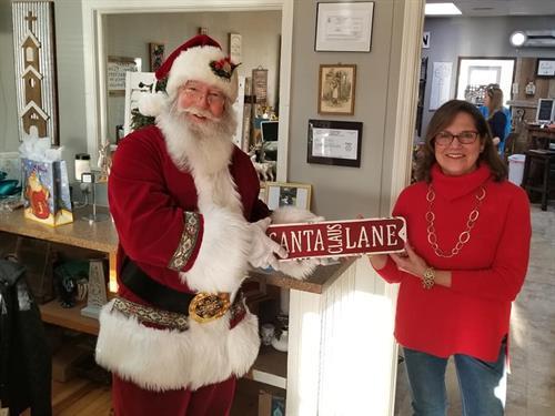 Santa Visiting us.