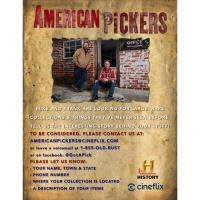 American Pickers - History Channel is coming to Virginia