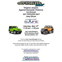 News Release: Virginia Jeepers Against Domestic Violence 1st Annual Go Topless Day to benefit SAFE