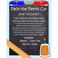 News Release: Pack the Patrol car Aug. 6-7