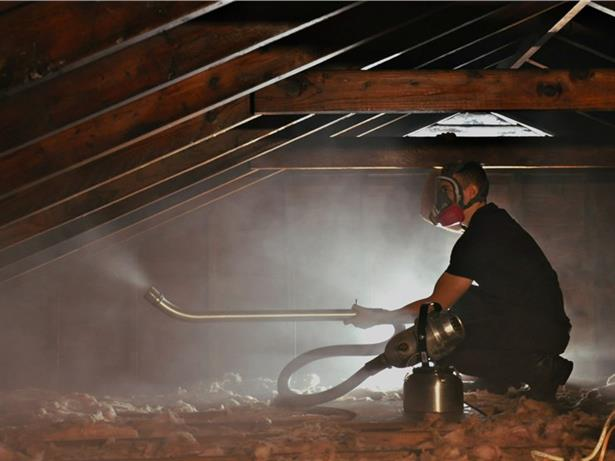 Treating an attic