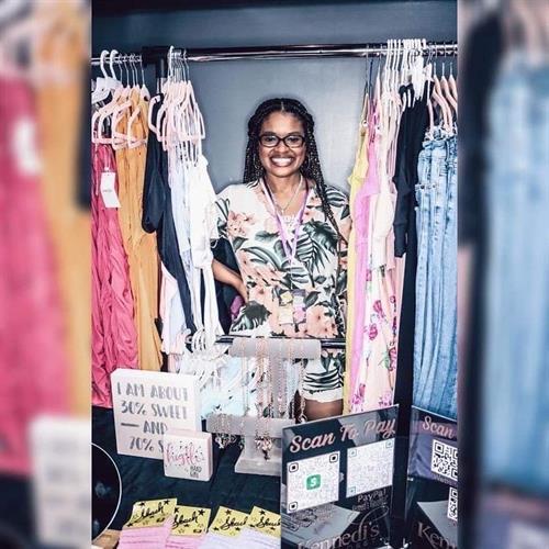 CEO Boss Mom Jasmine at the Back 2 School Bash Pop up Shop 7/31/2021