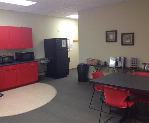 Spacious Break Room