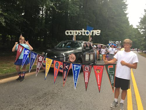 Capstone in Peachtree City's 4th of July Parade - 2018