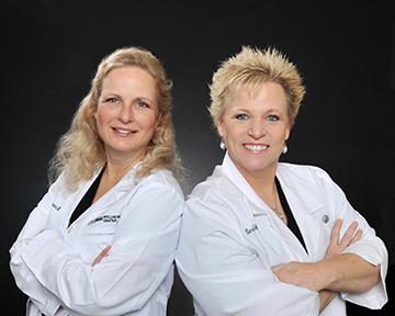 Dr. Jamie Walraven and Linda Faukner, FNP-C