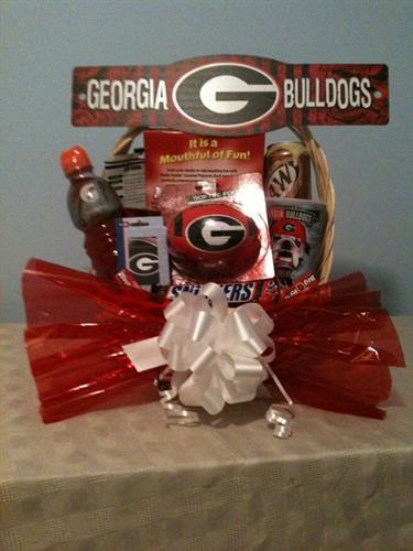 Georgia Bulldog Gift Basket