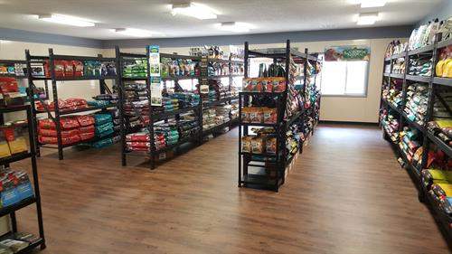 Our retail area features all holistic food choices.