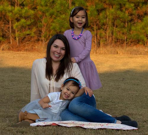 Manager, Lindsey Chau and her daughters