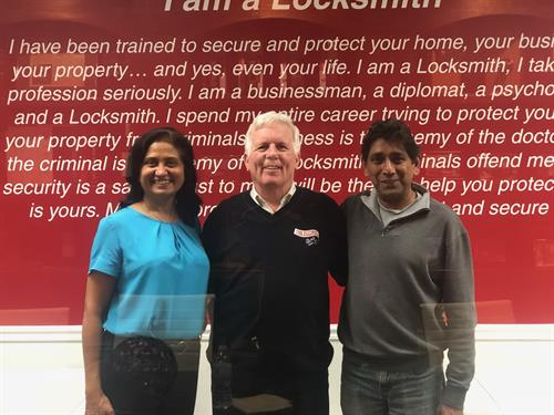 Latha and Ravi with the original founder Barry L. Mcmenion - The Buzz on our van is named after him