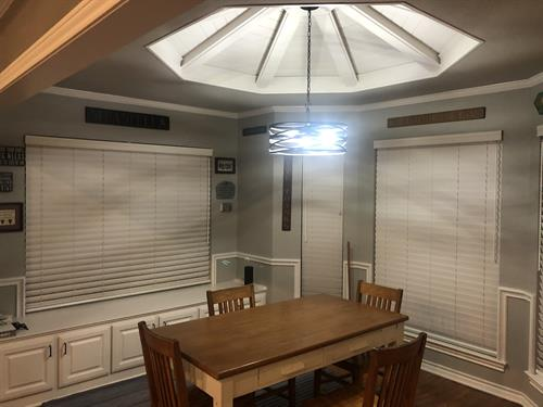 Faux Wood Blinds - Dining Room