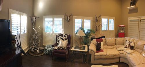 Plantation Shutters - Game Room