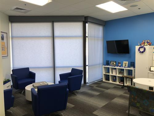 Light Filtering Motorized Roller Shades - Executive Office