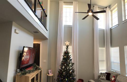 18 foot x 4 foot Elegant Drapery Panel - Living Room