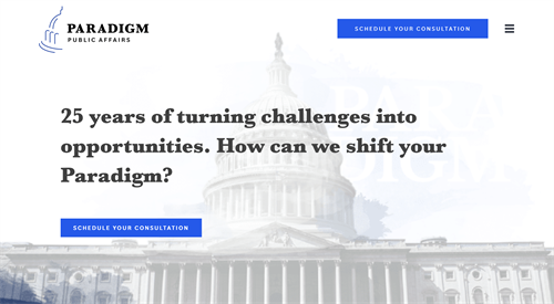 A public affairs and government relations consulting firm with more than 25 years of experience - now providing custom policy and political solutions