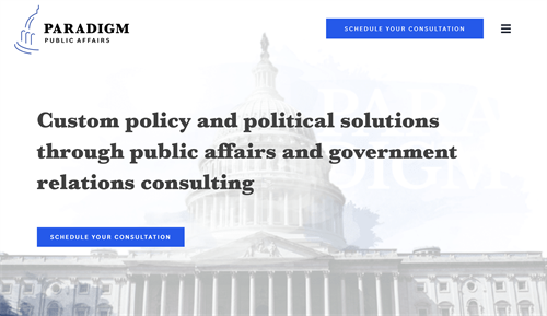 Custom policy and political solutions through public affairs and government relations consulting.