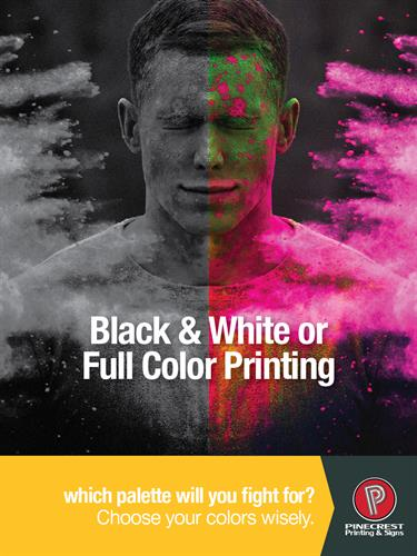 Full Color or Black and White Ad