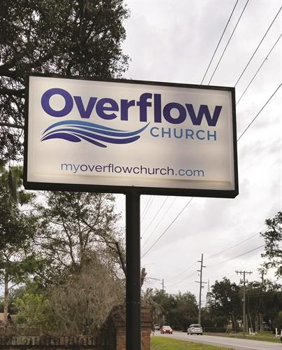 Overflow Church Outdoor Sign