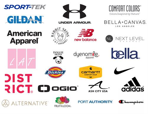 Many brands to select from.