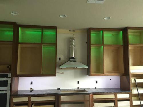 Tape lighting can go virtually anywhere & comes in tons of colors!