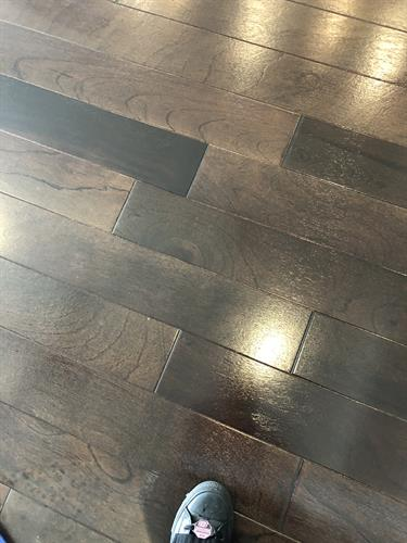 after wood floor cleaning