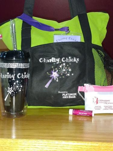 Charity Chick Bag, Lanyard, Tumbler, First Aid Kit and Lip Balm for 2016 Cruise