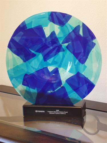 Custom Award Ordered by Toyota Created by Local Artist