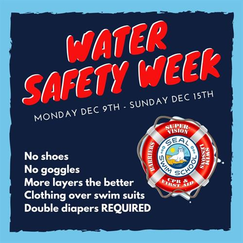 Water safety week is coming up!